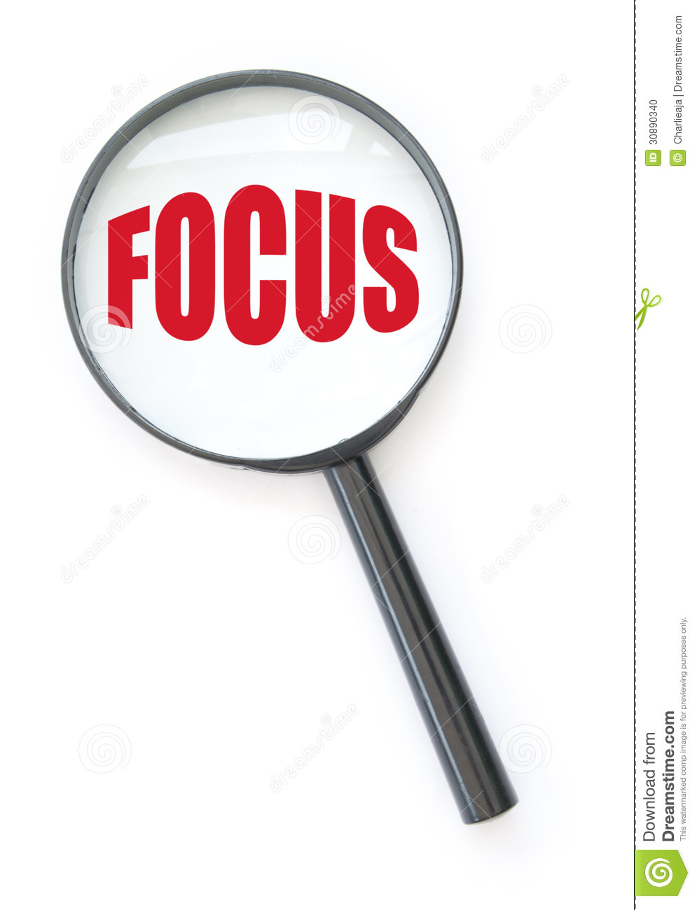 Magnifying Glass With Focus Stock Photo - Image: 30890340
