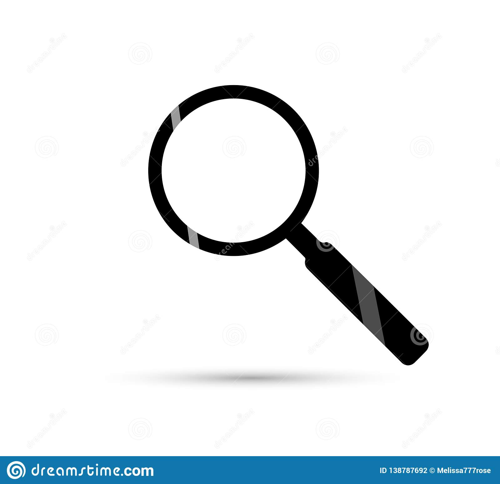 Magnifying glass icon isolated on white background illustration. Zoom symbol, or search icon