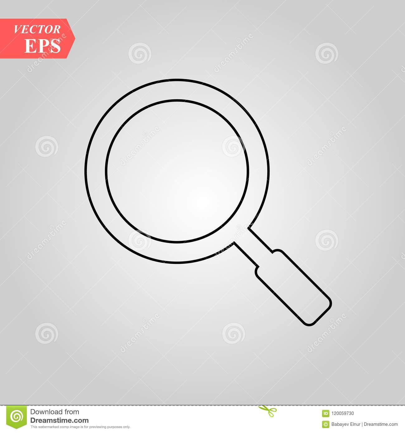Magnifying glass line icon, outline vector sign, linear style pictogram isolated on white. Search, find symbol, logo