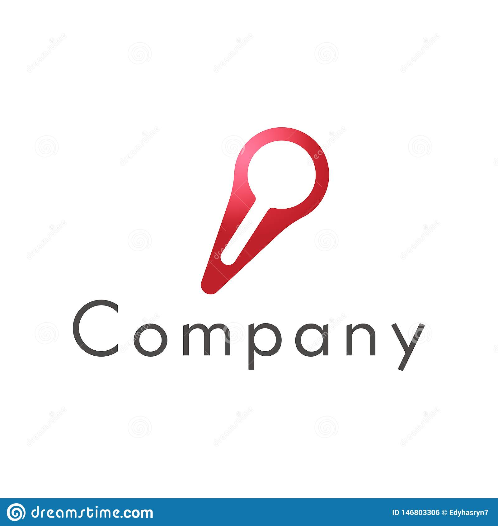 A magnifying glass logo