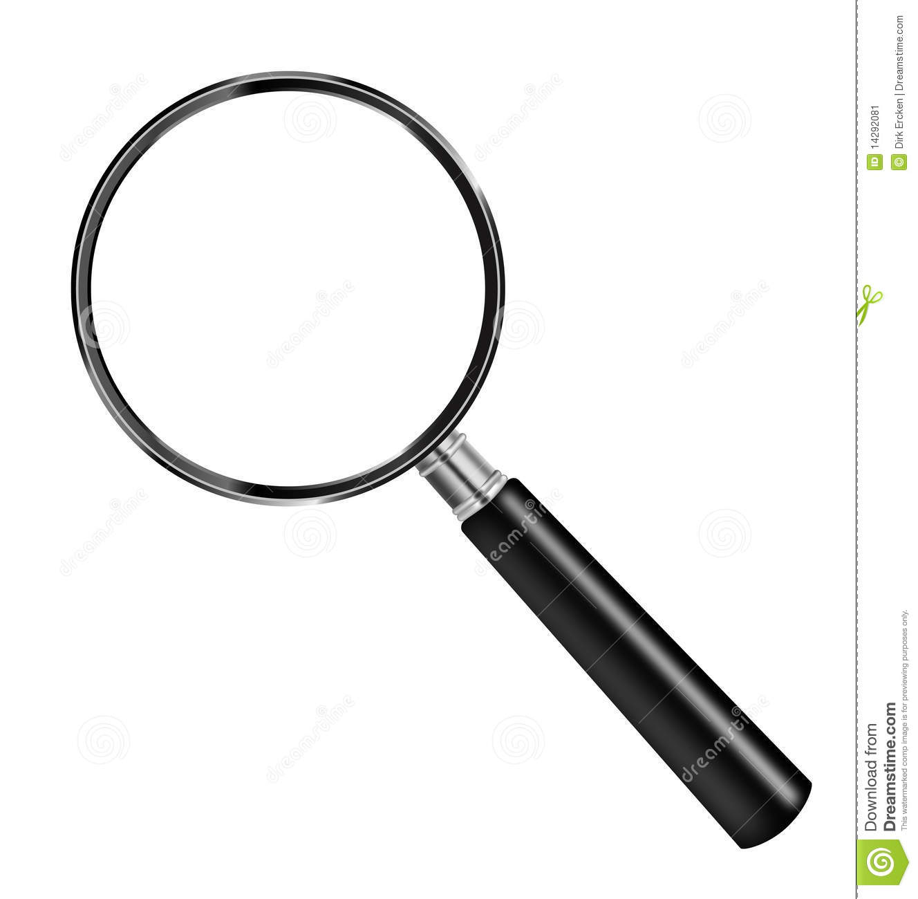 Magnifying glass looking lens magnify isolated