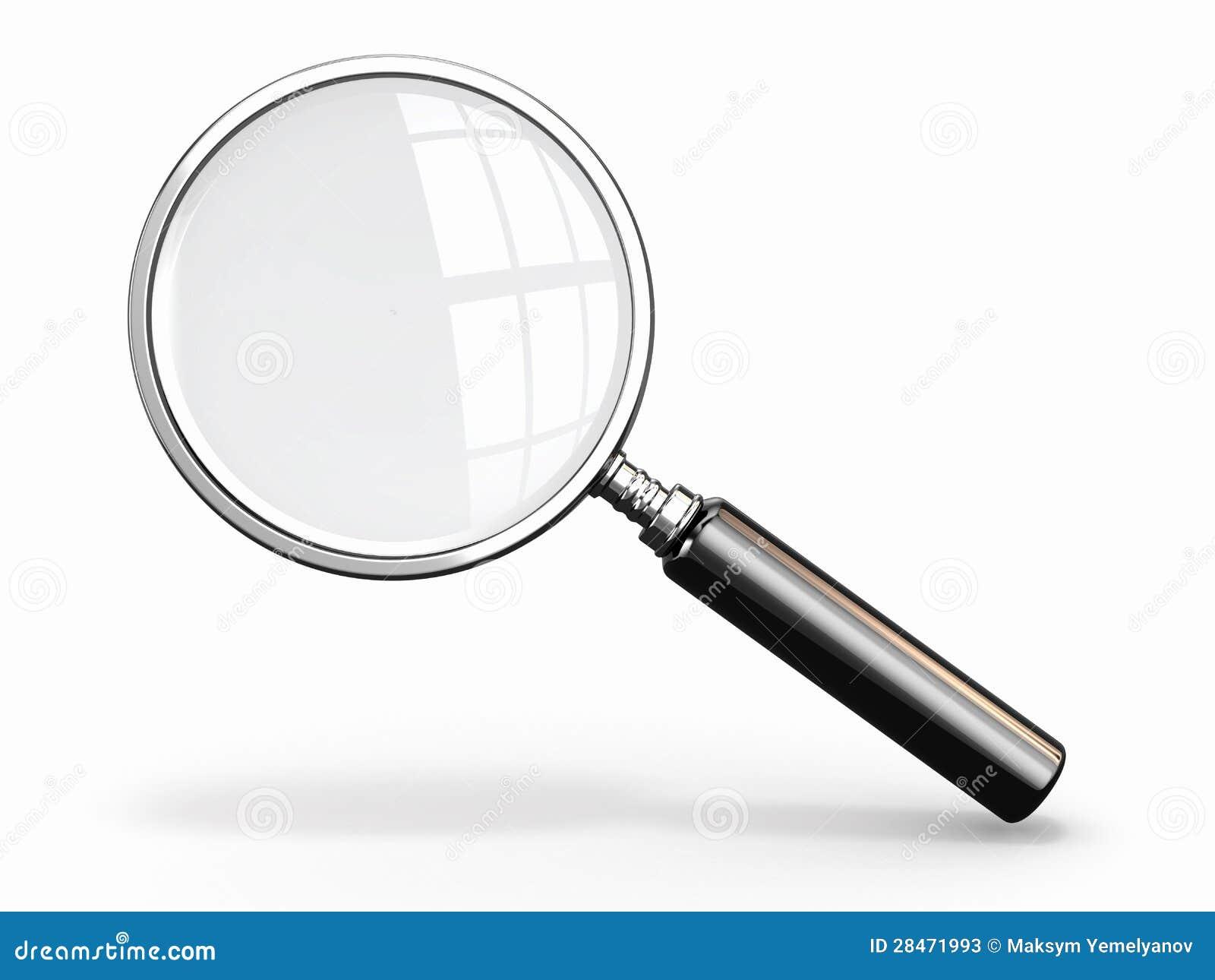 Magnifying Glass Loupe White Background Stock Illustration
