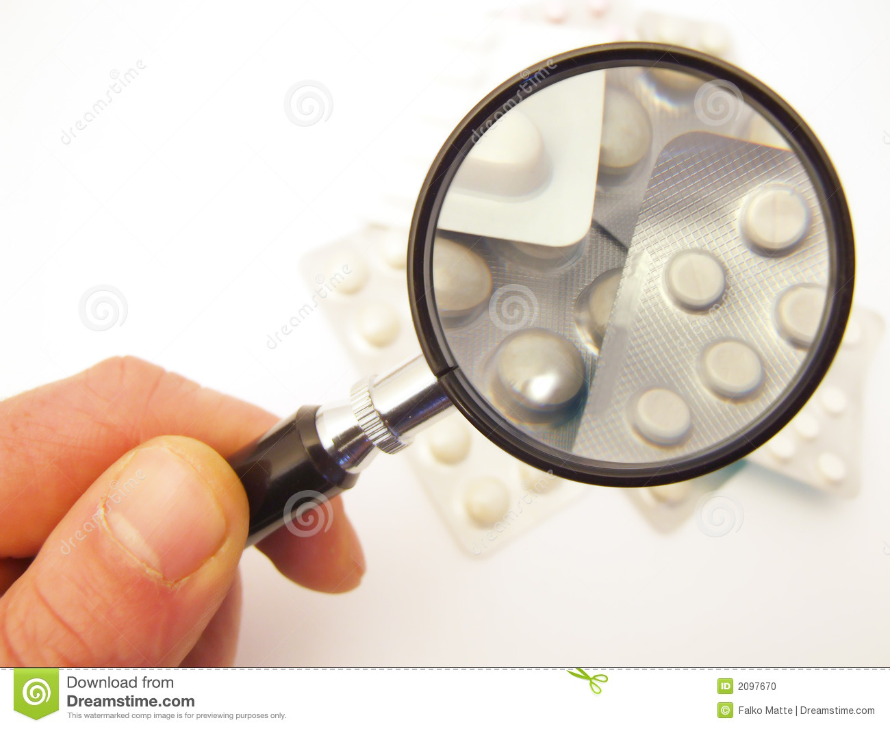 Magnifying Glass and Medication