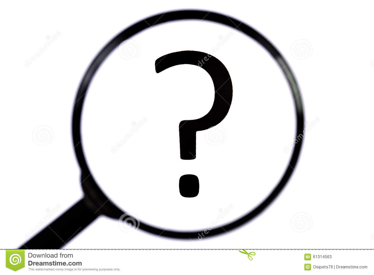 3d person with magnifying glass and question mark stock images image - Close Glass Isolated Magnifying Mark Question