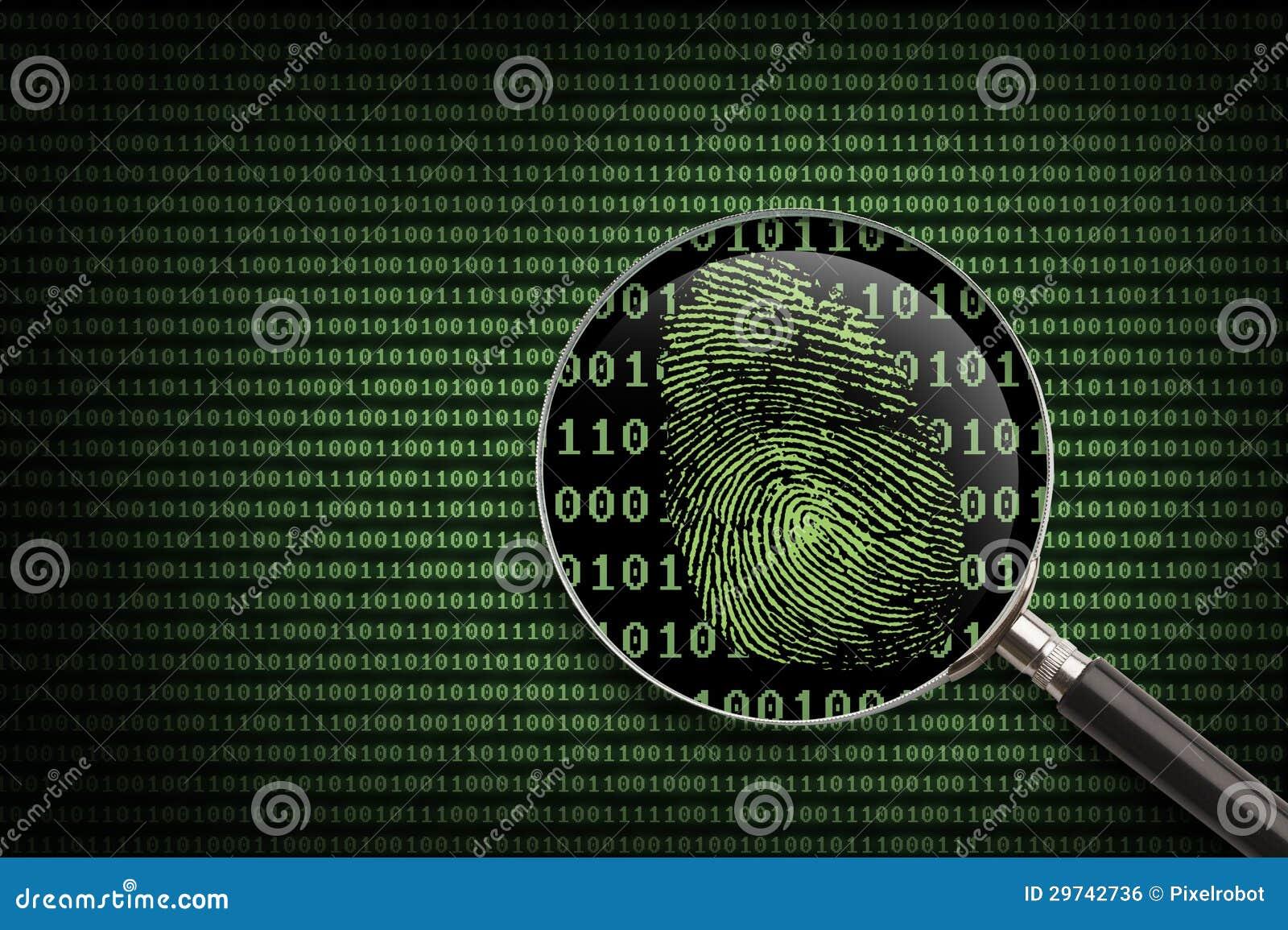 Magnifying Glass Online Fingerprint