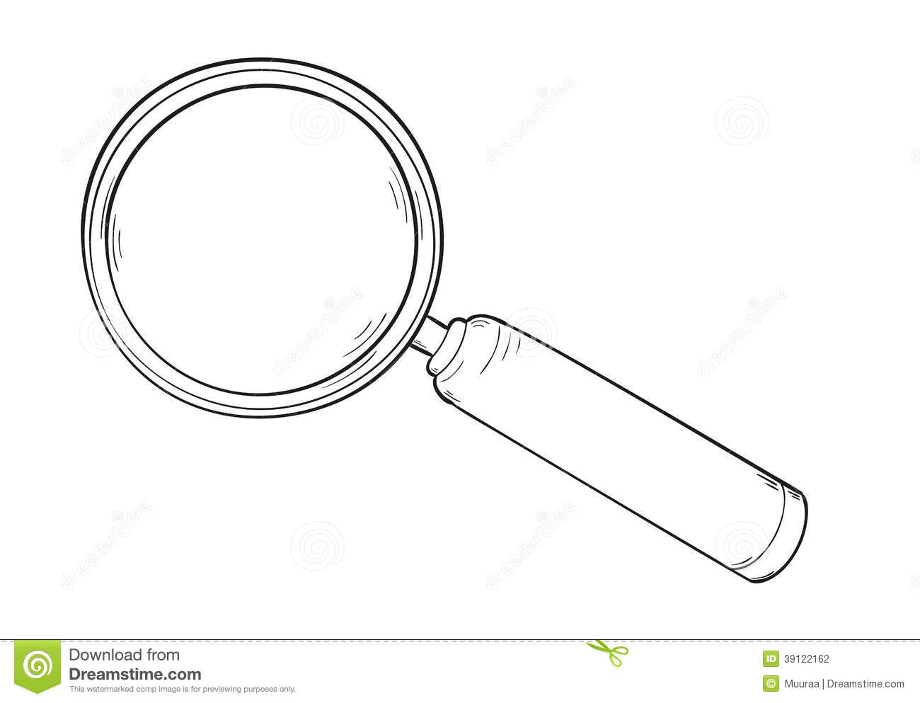 Sketch Of The Elegant Magnifying Glass Isolated