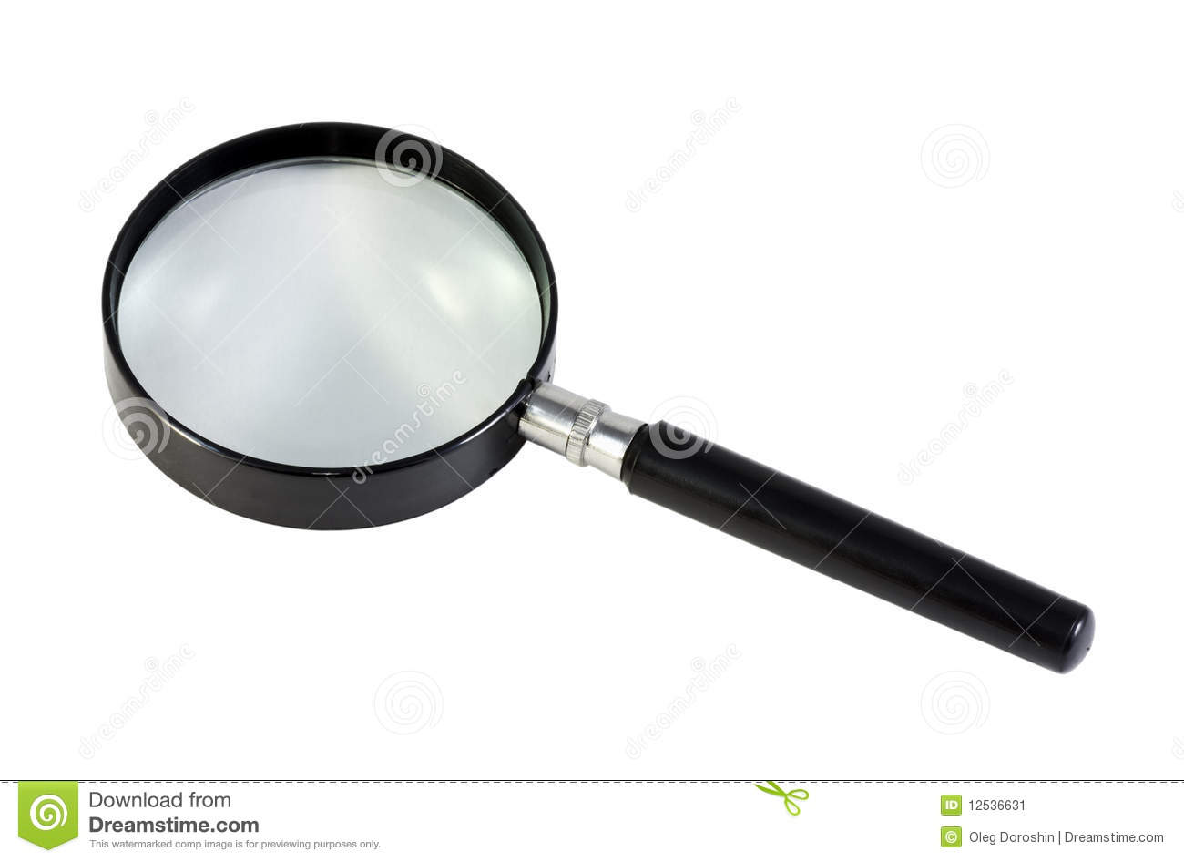Magnifying Glass On A White Background Stock Image