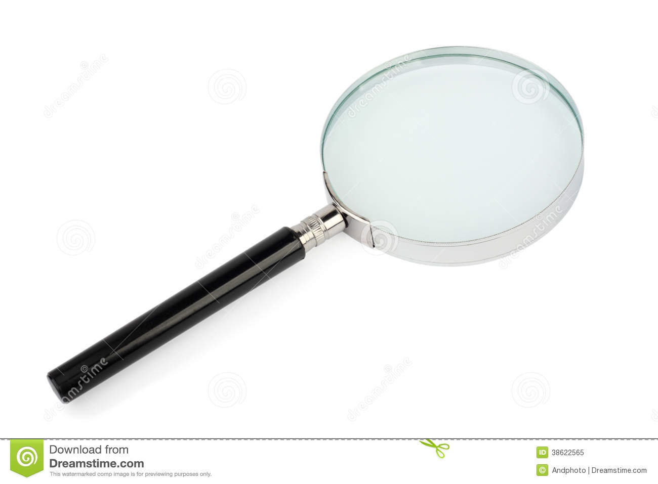 Magnifying Glass On White Royalty Free Stock Photo
