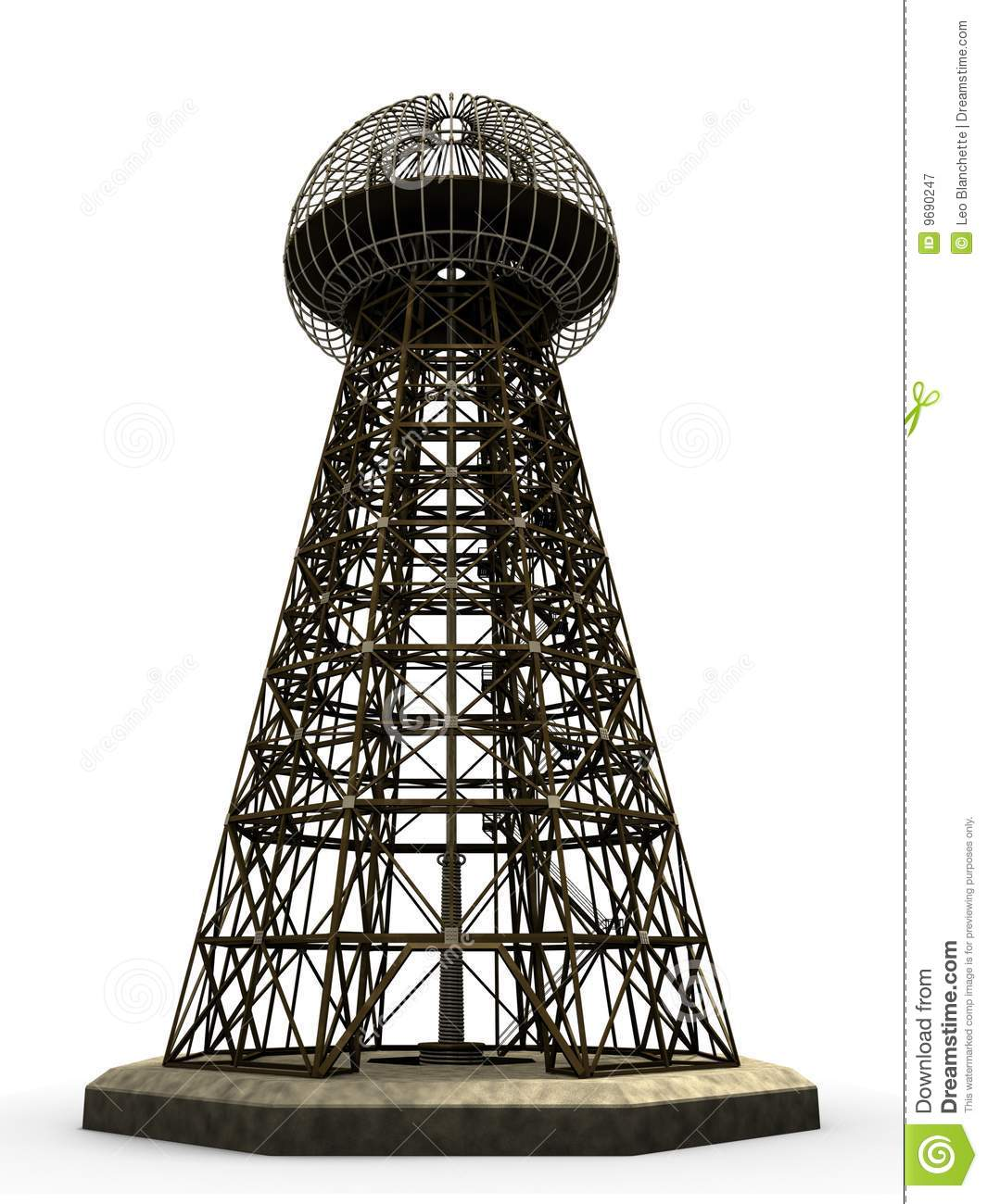Magnifying Transmitter The Wardenclyffe Tower Royalty Free Stock Photography Image 9690247