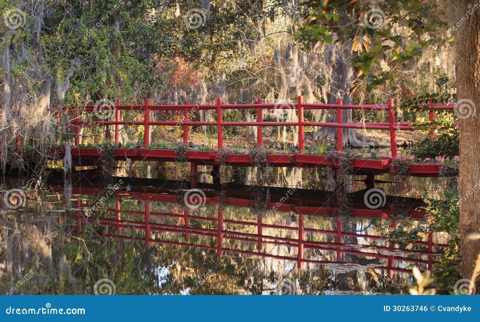 Red Bridge Magnolia Plantation Charleston SC Stock Photo - Image of ...