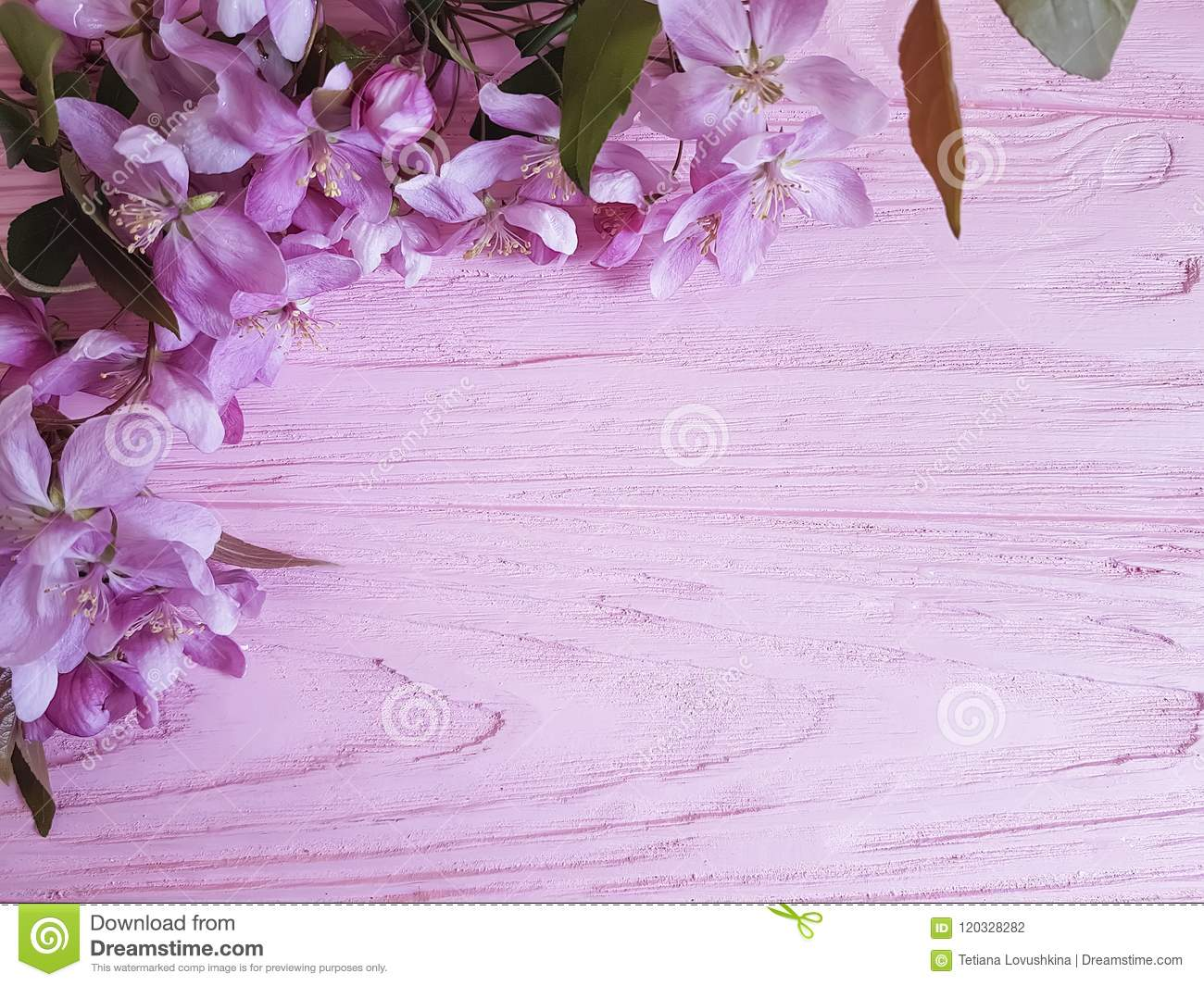 magnolia romantic on a wooden background