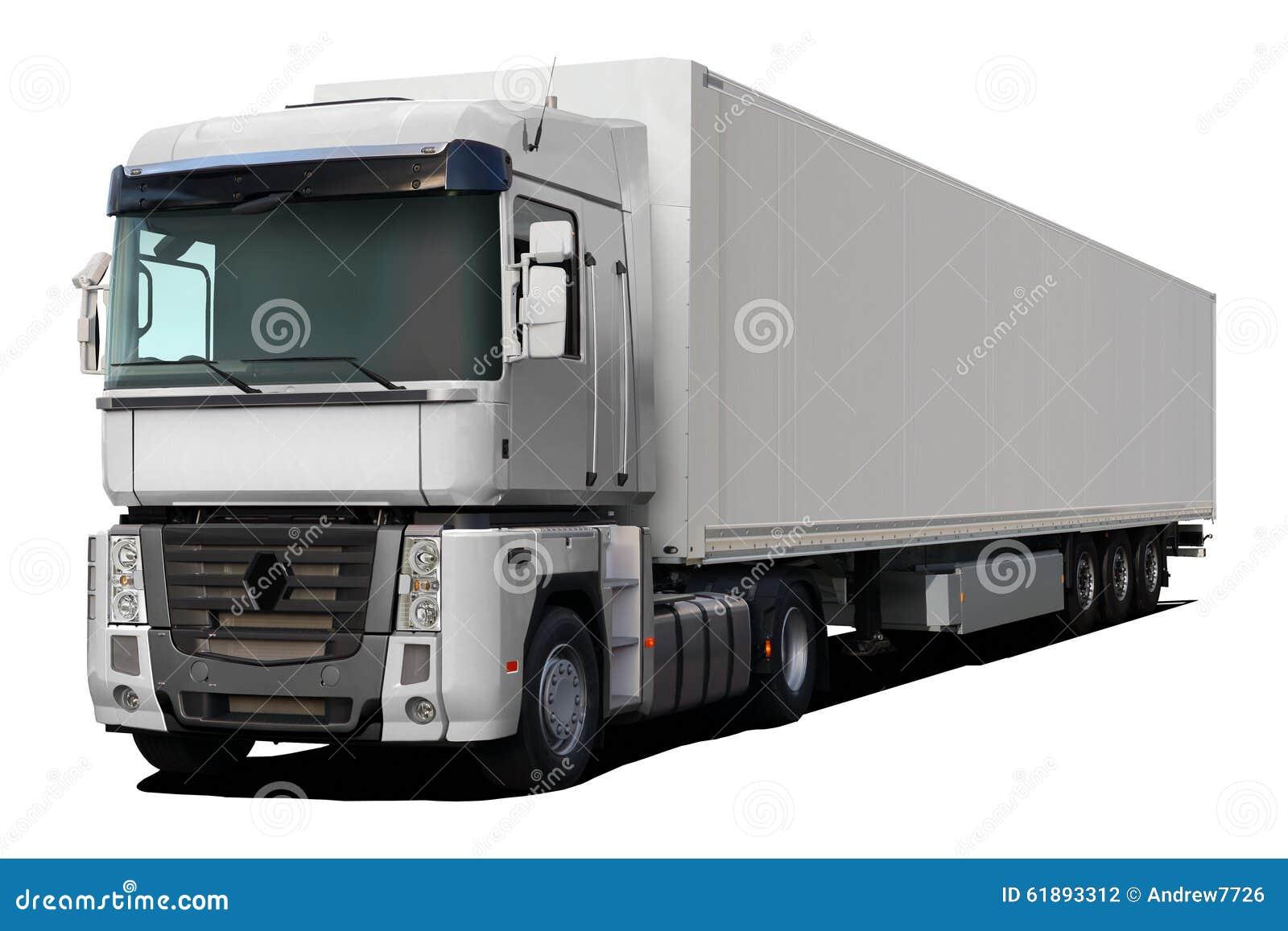 magnum blanc de renault de camion photo stock image 61893312. Black Bedroom Furniture Sets. Home Design Ideas