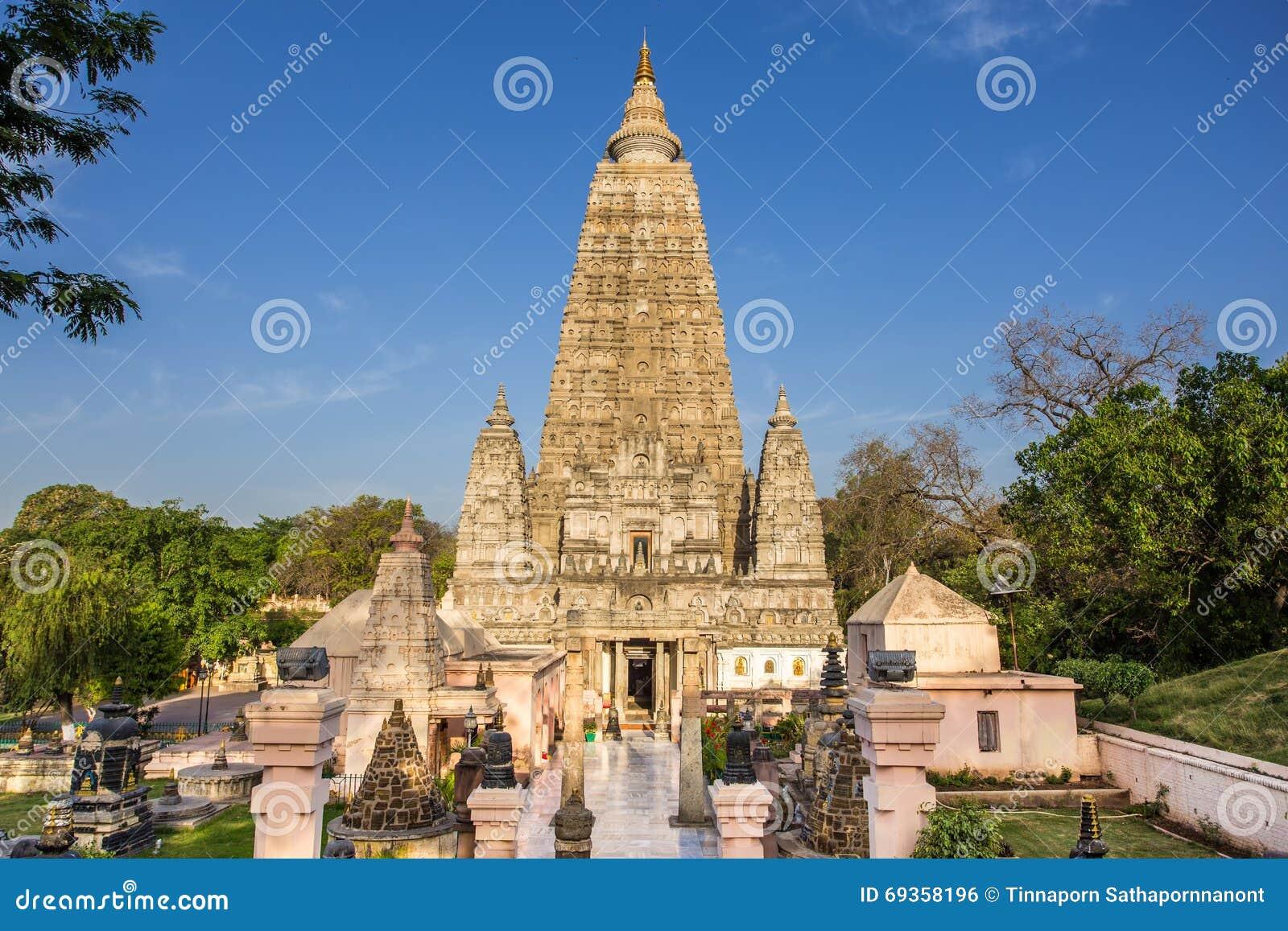 Mahabodhi寺庙, bodh gaya,印度