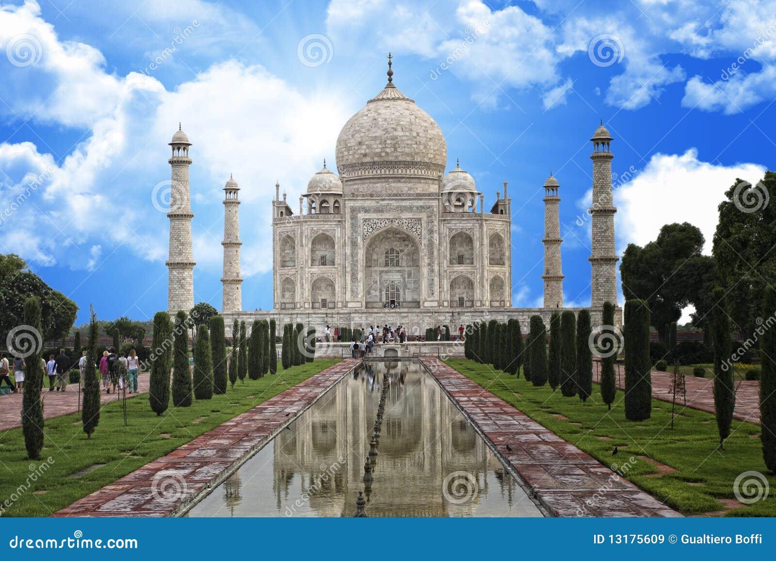Mahal μνημείο της Ινδίας taj