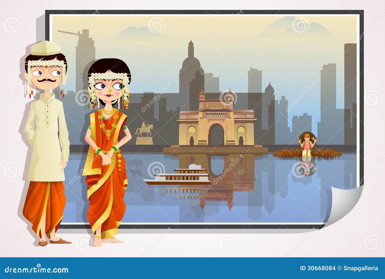 Maharashtrian Wedding Couple Stock Images Image 30668084