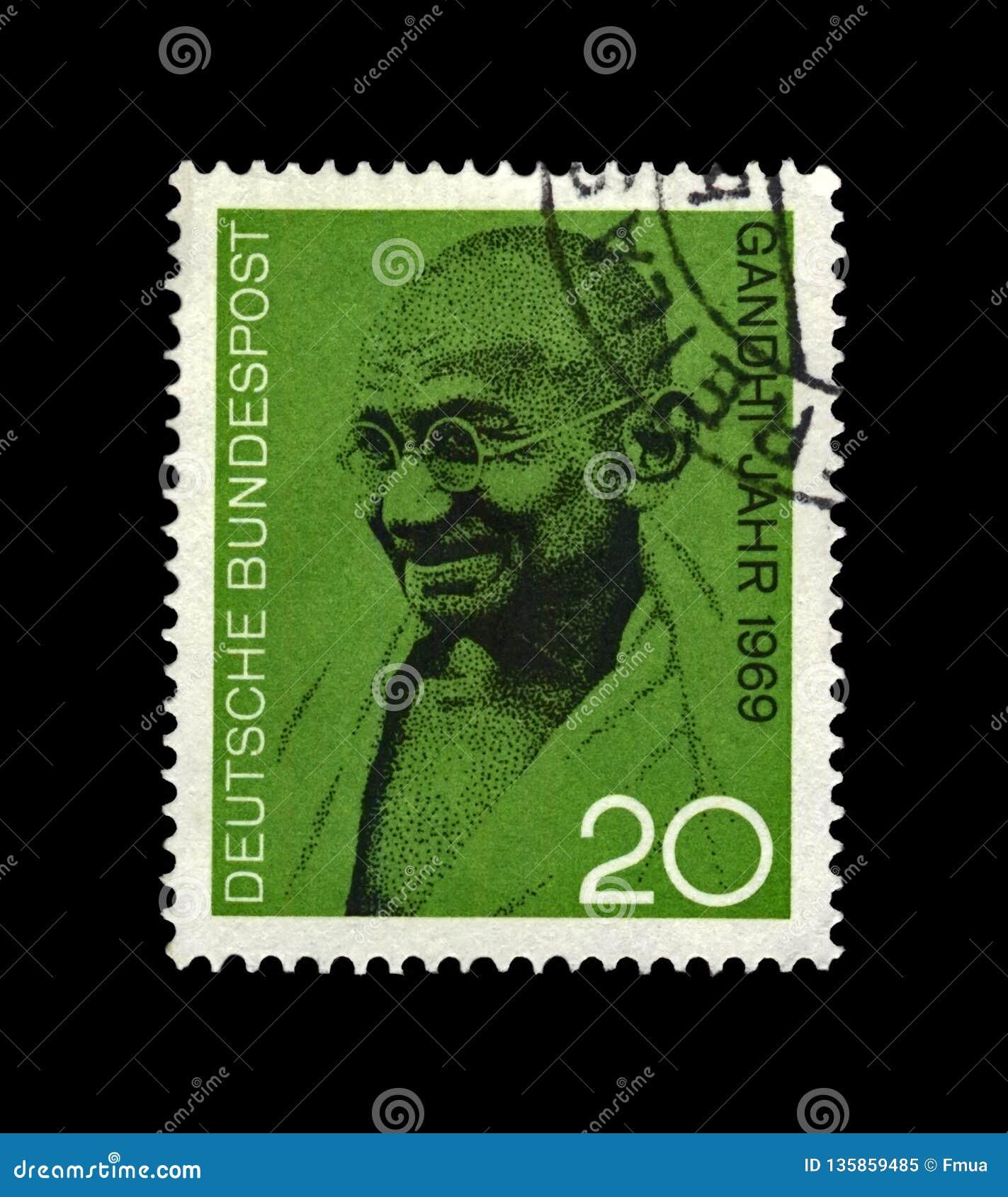Mahatma Gandhi 1869-1948 aka Mohandas Karamchand Gandhi, attivista indiano famoso, capo del movimento di indipendenza indiana,