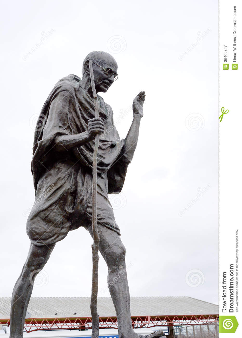 Mahatma Gandhi bronze editorial photography. Image of ...Non Violent Resistance