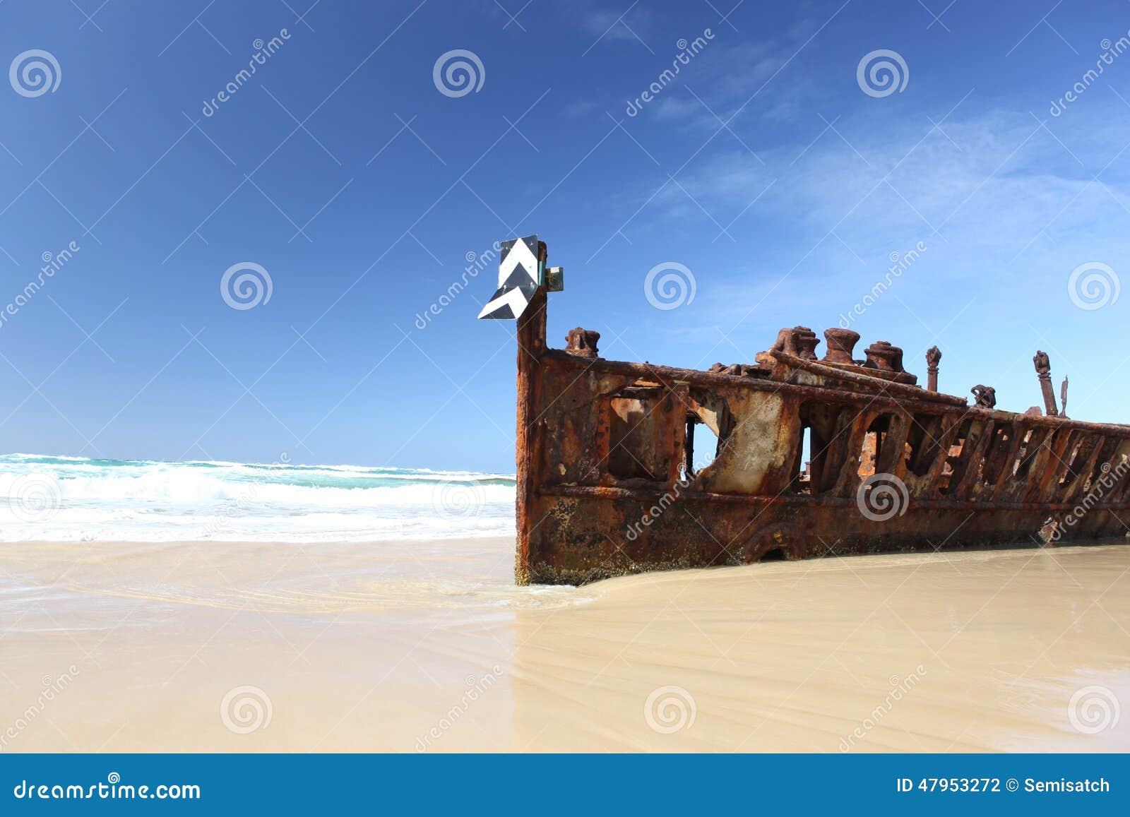 The Maheno shipwreck, Fraser Island, Queensland, Australia