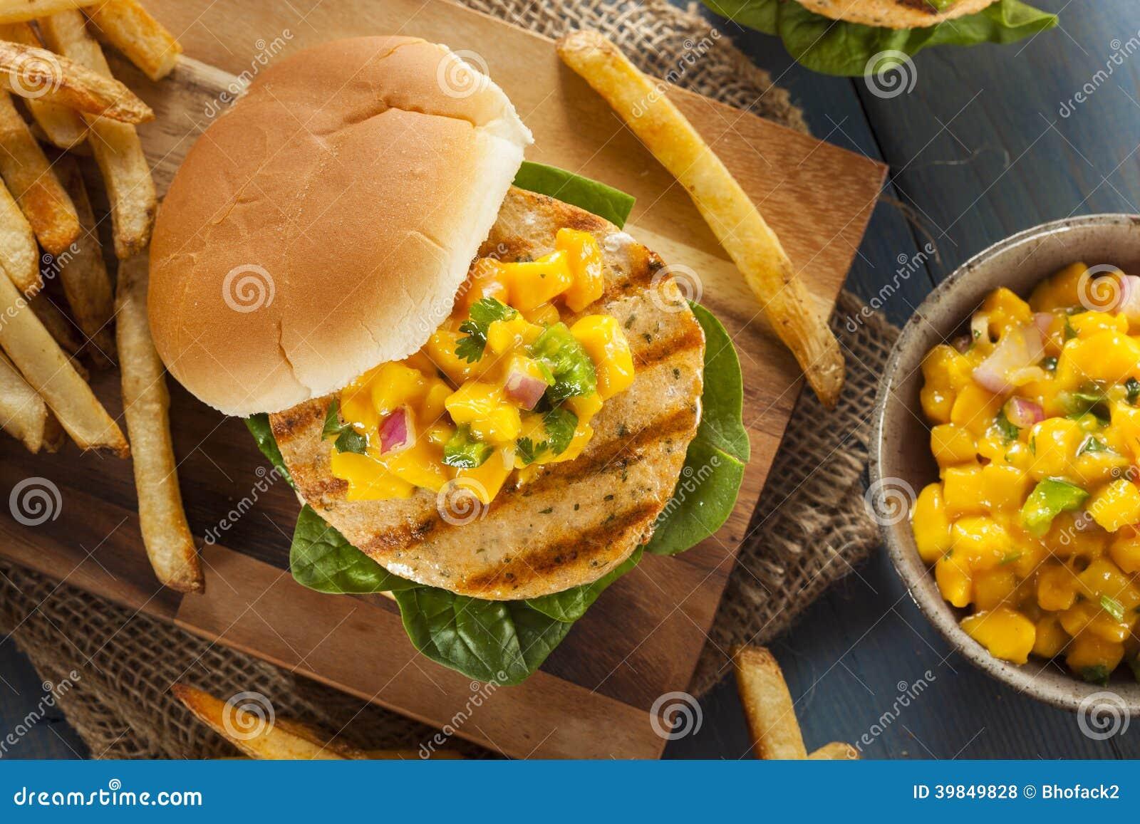 Mahi Fish Sandwich with Salsa