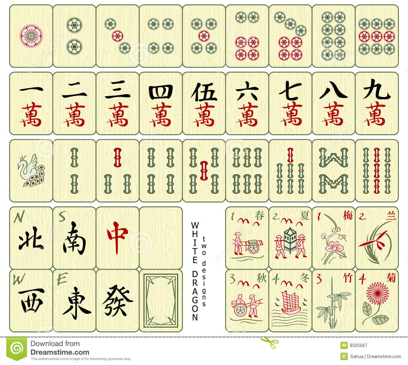Phoenix Tile Mahjong Tiles Royalty Free Stock Photography - Image: 8325067