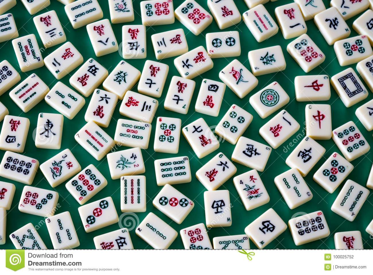 Mahjong tiles stock photo  Image of asia, gamble, chinese