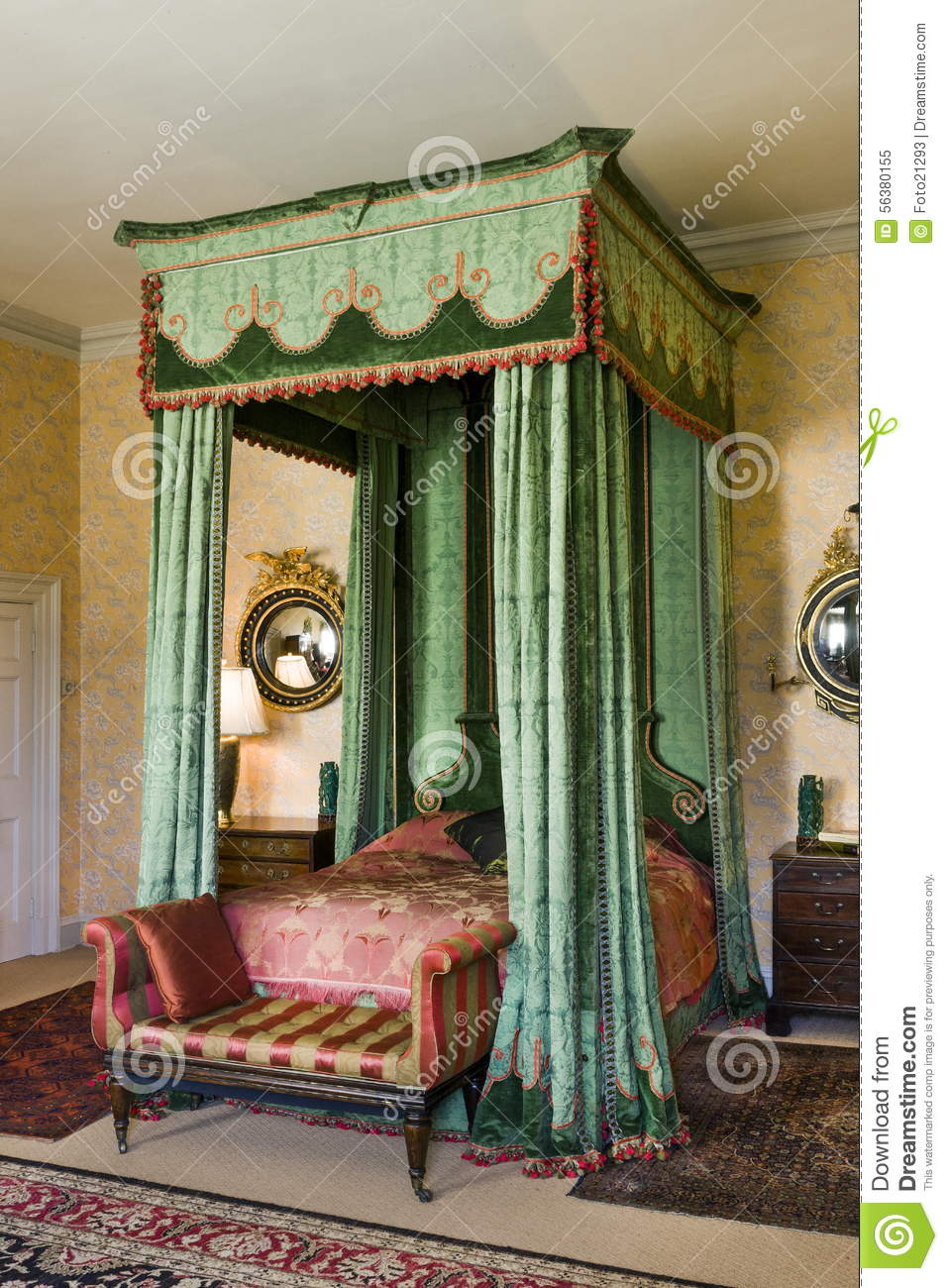 Mahogany Antique Four Poster Bed Stock Image Image Of
