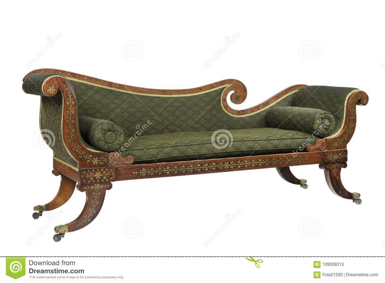 Outstanding Mahogany Scroll Arm Sofa Chaise Longue Stock Image Image Onthecornerstone Fun Painted Chair Ideas Images Onthecornerstoneorg