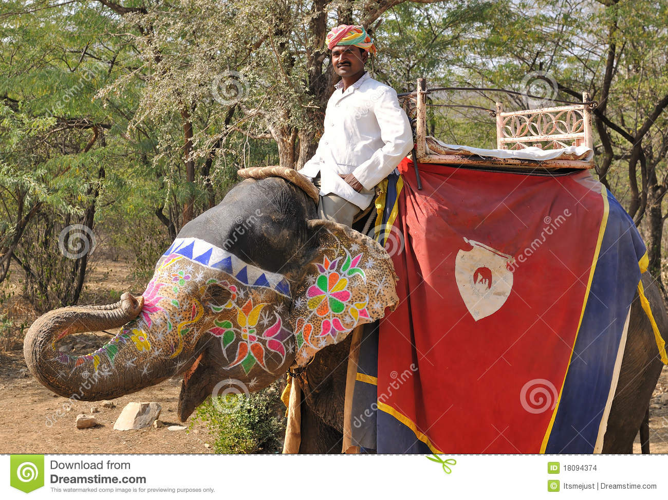 Mahout And Elephant Editorial Stock Image - Image: 18094374