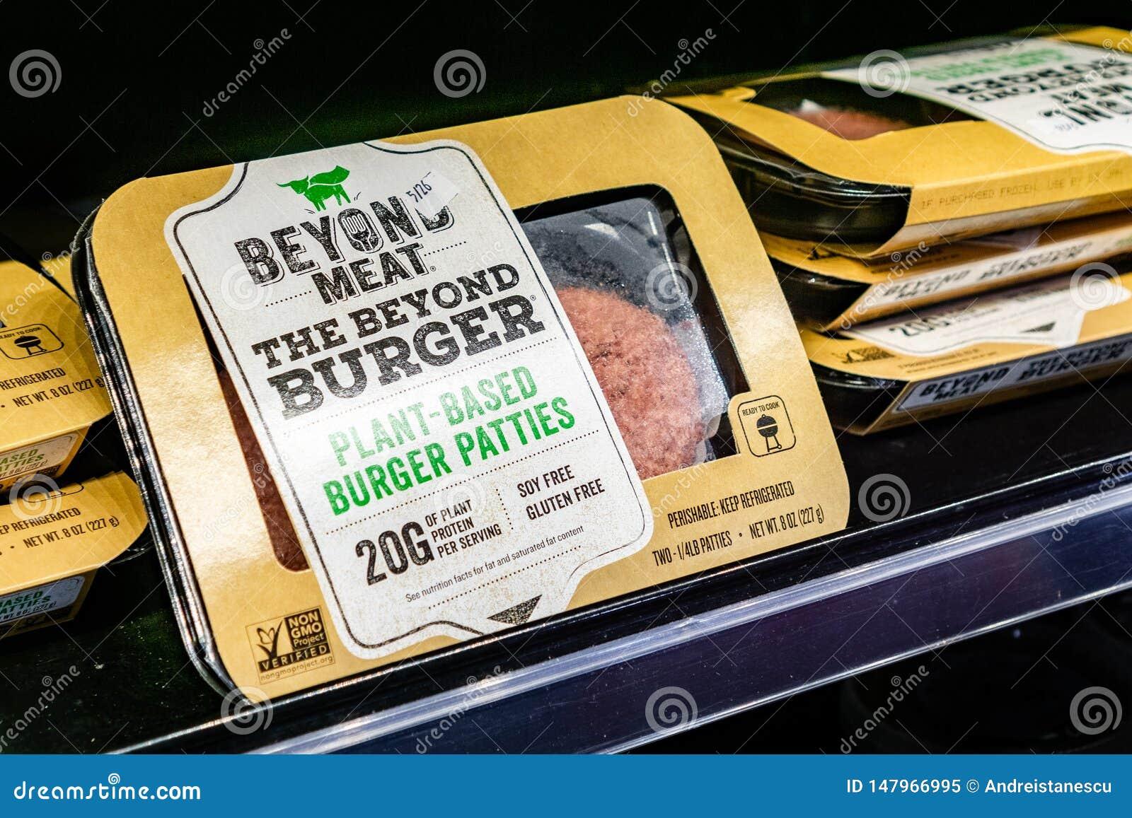 17 mai 2019 Cupertino/CA/Etats-Unis - au delà des paquets d hamburger de viande disponibles pour l achat dans un magasin dans la