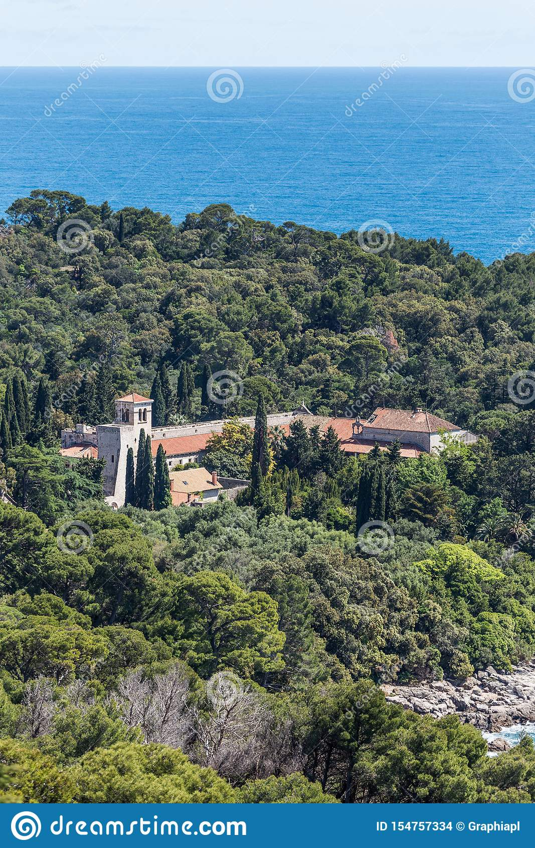 5. Mai 2019 Dubrovnik, Kroatien Locrum-Insel