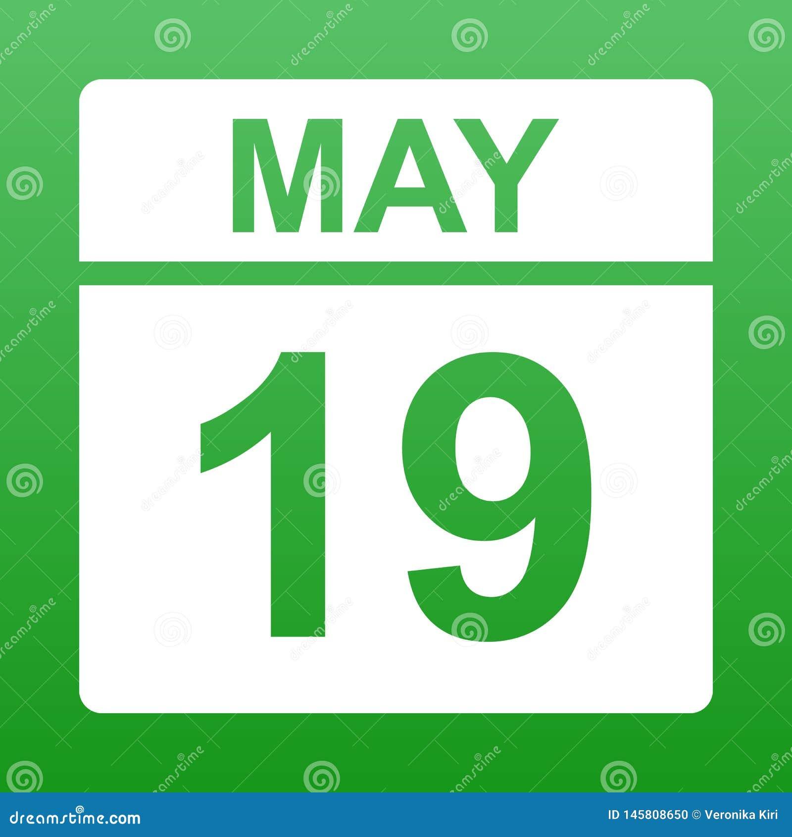 19 mai Jour sur le calendrier