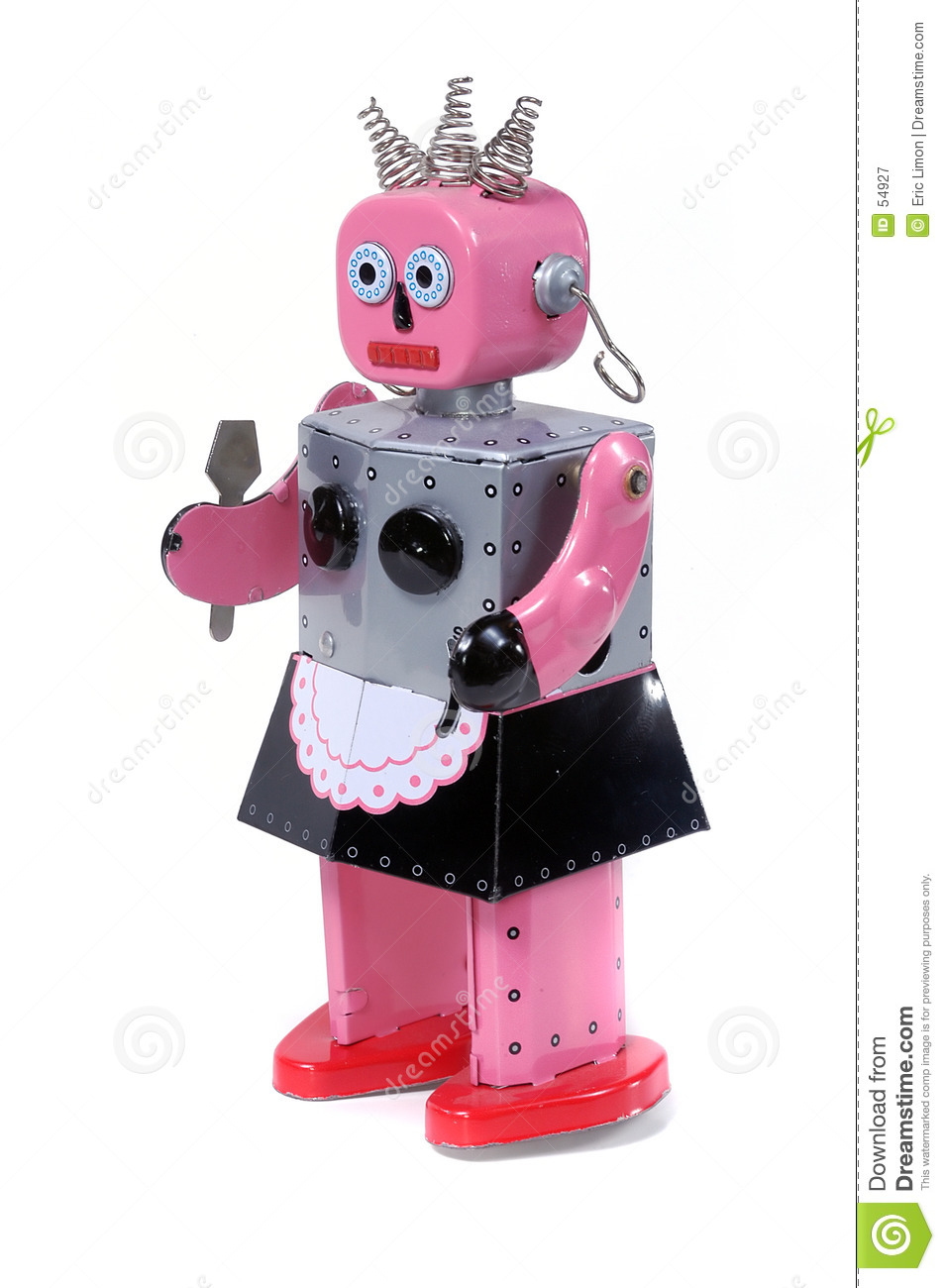 Vintage Robot Toy Stock Image. Image Of Clean