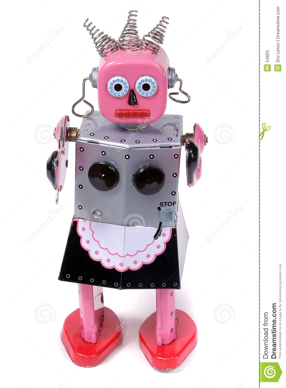 Vintage Robot Toy Stock Image. Image Of Maid