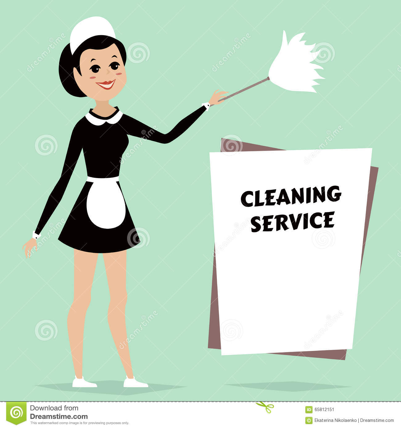 maid in classic maid dress cleaning duster cleaning service maid in classic maid dress cleaning duster cleaning service advertisement space for text