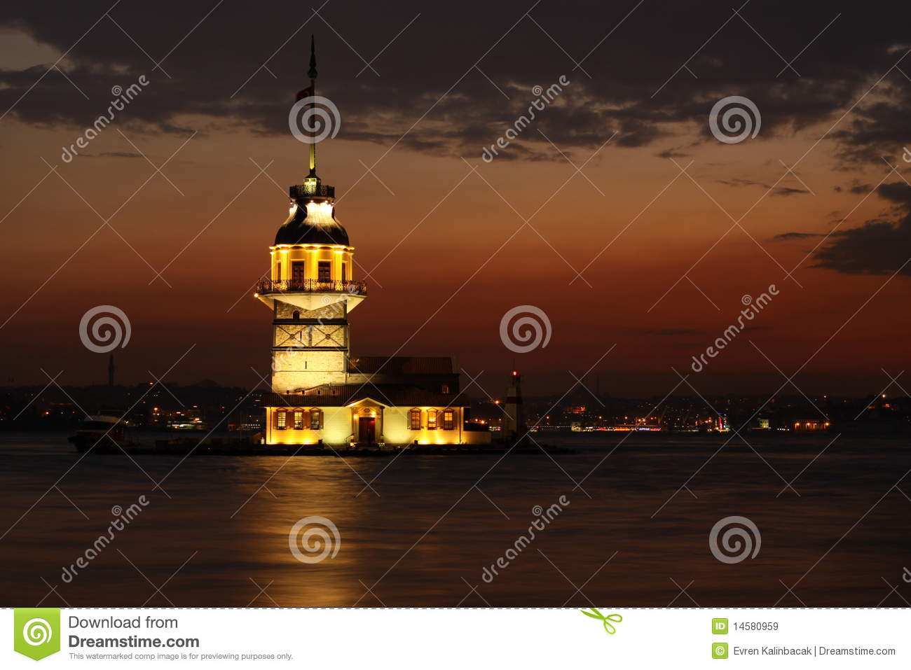 Maidens Tower Royalty Free Stock Images - Image: 14580959
