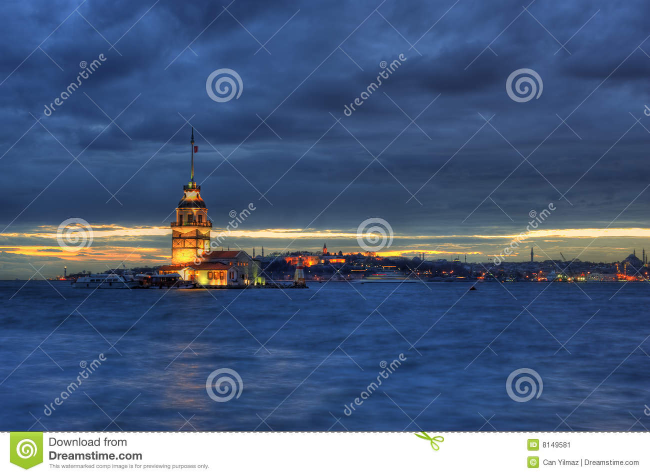 Download Maiden's Tower in Istanbul stock image. Image of dawn - 8149581