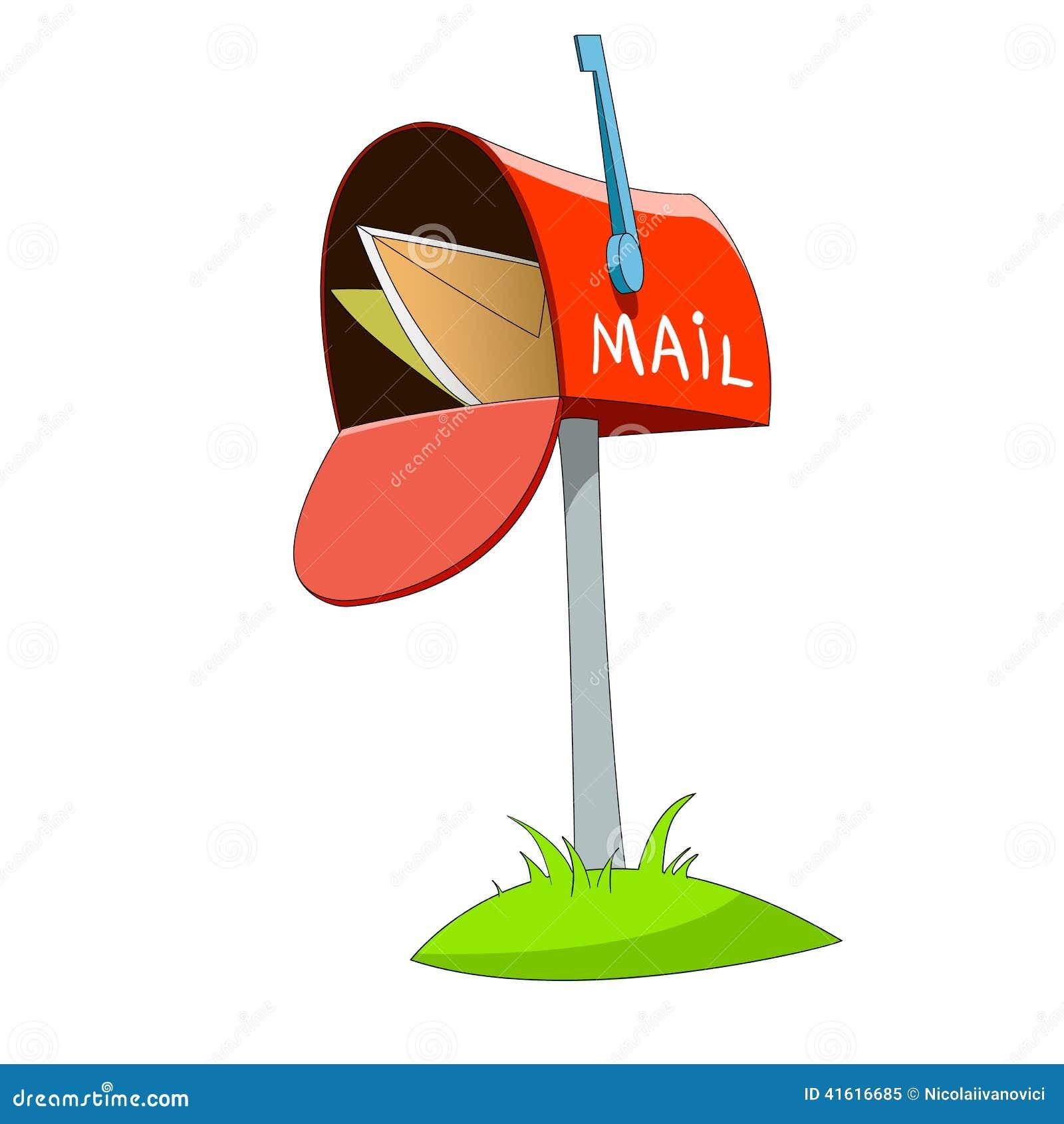 mail box stock vector image 41616685 mailbox clip art book mailbox clip art free
