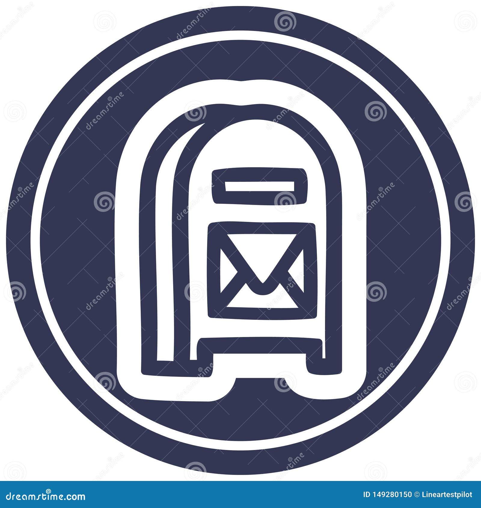 mail box circular icon