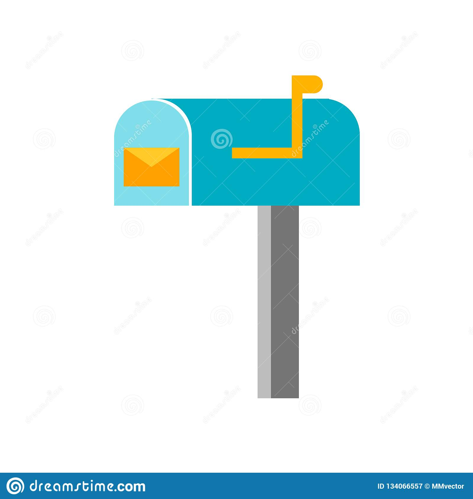 Mail box icon vector sign and symbol isolated on white background, Mail box logo concept