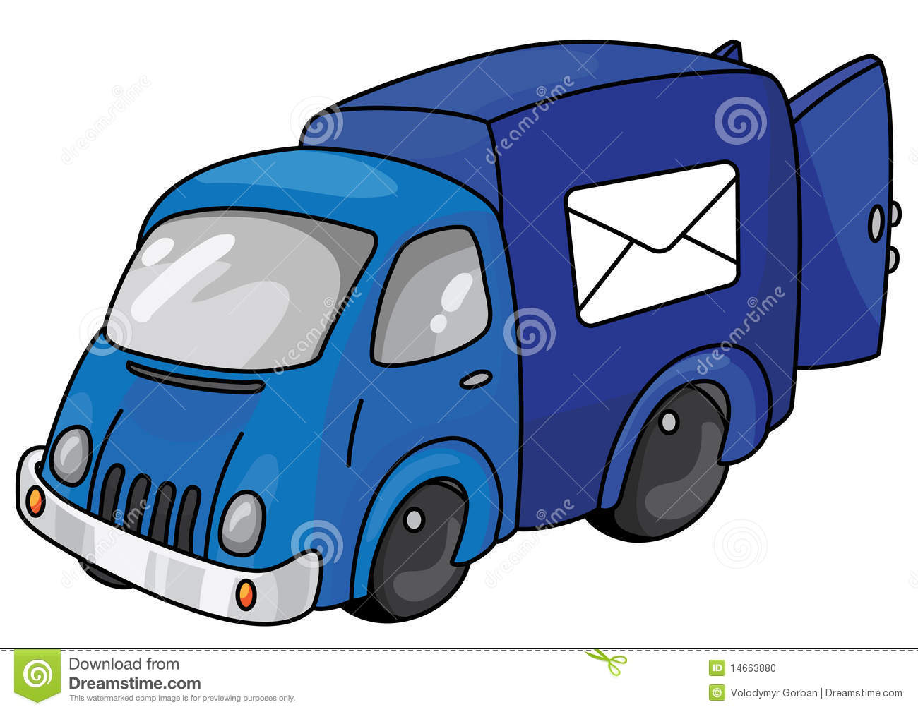 Mail Car Stock Vector. Image Of Truck, Office, Parcel