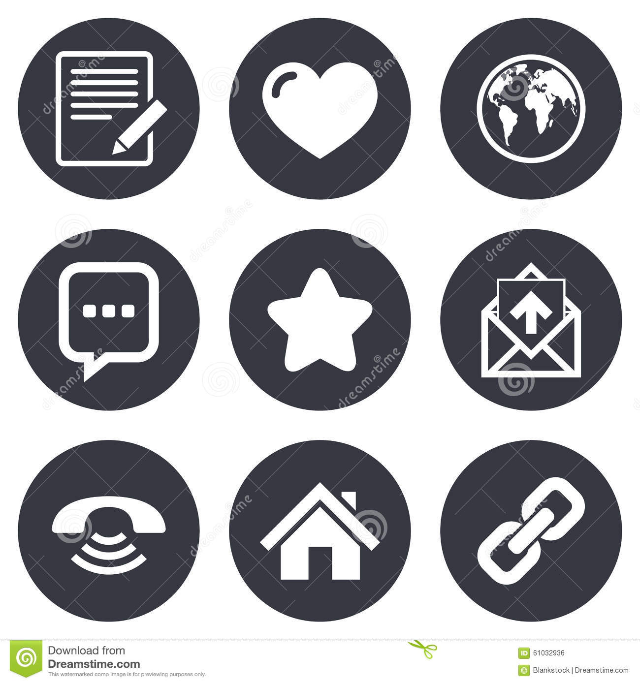 Mail contact icons communication signs stock vector communication signs biocorpaavc Gallery