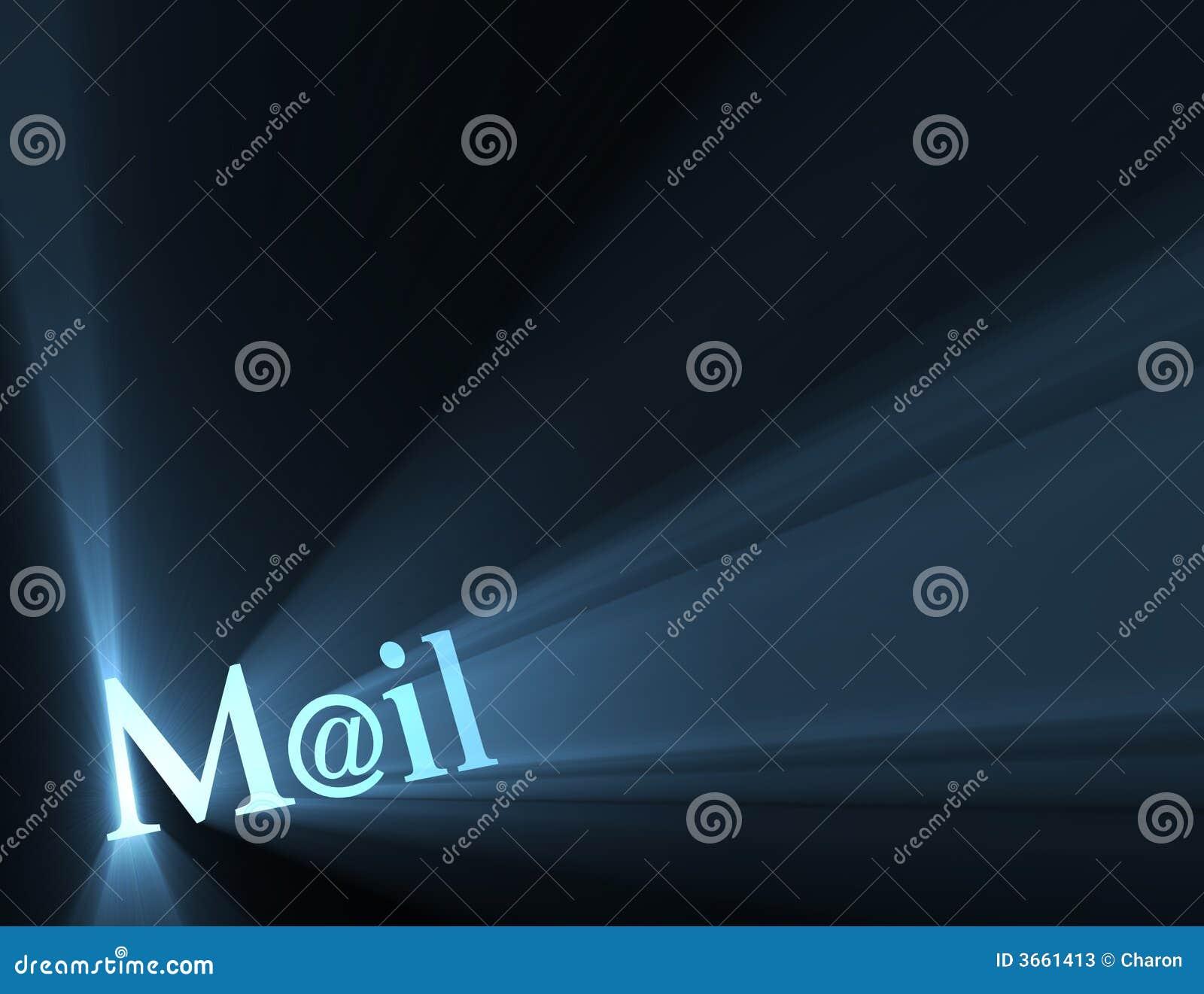 Mail At Email Symbol Light Flare Stock Illustration Illustration