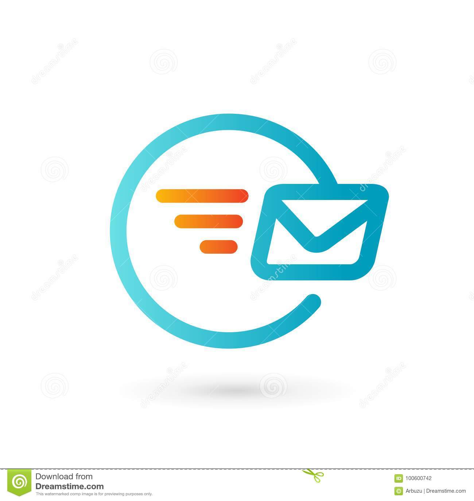 Mail Envelope Logo Icon Design Template Elements Stock Vector - Mail envelope template