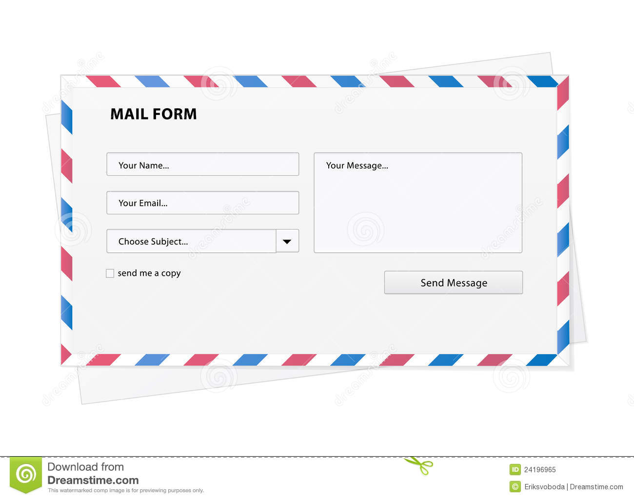 Mail Form In An Envelope Royalty Free Stock Photo - Image: 24196965