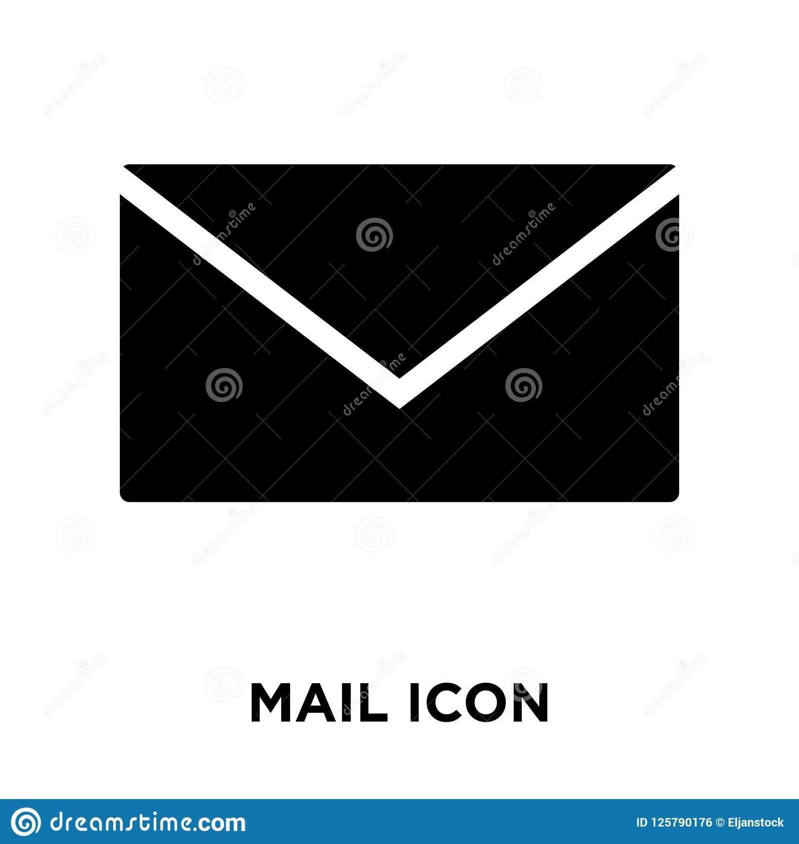 Mail icon vector isolated on white background, logo concept of M