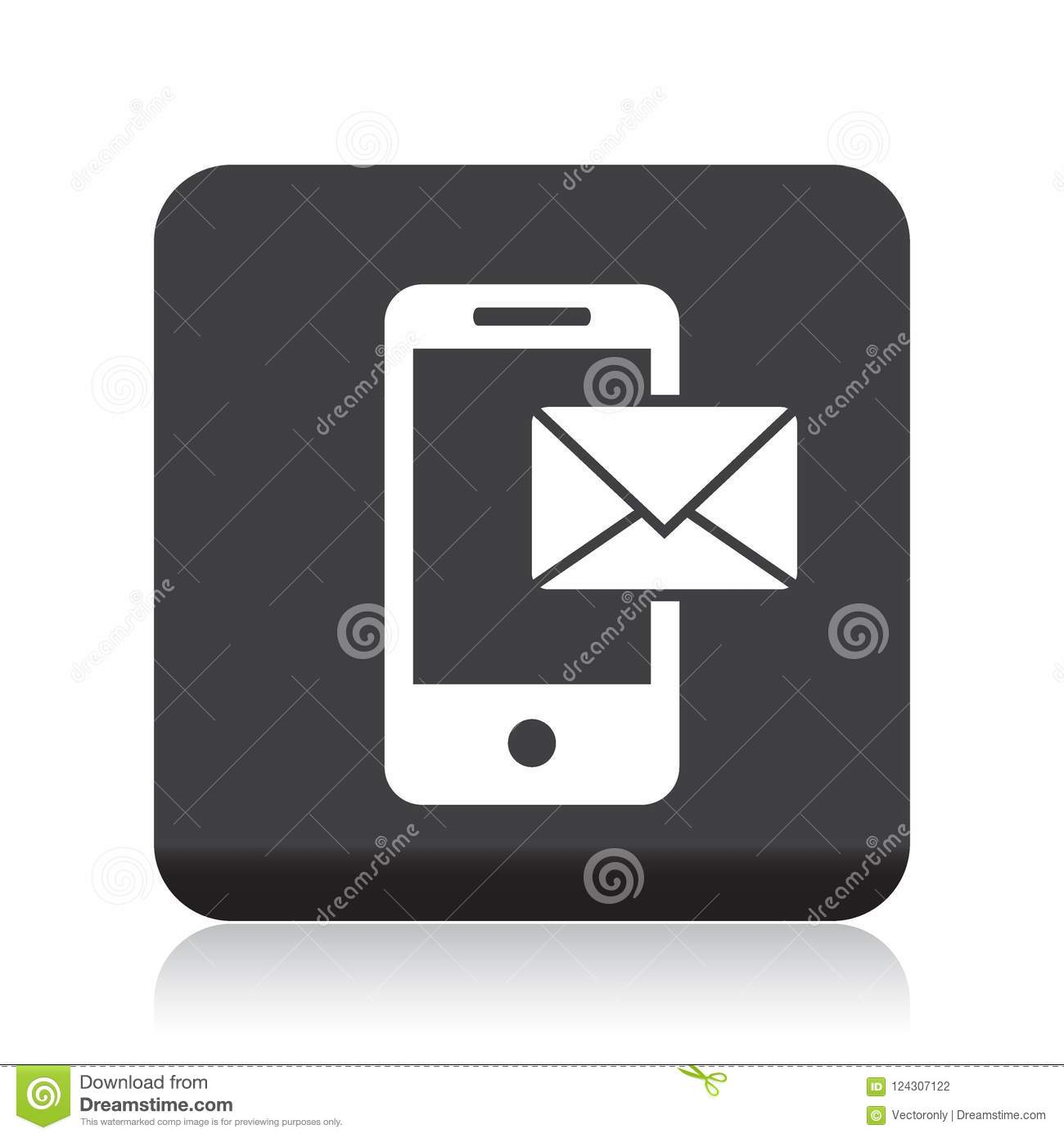 Mail on mobile icon