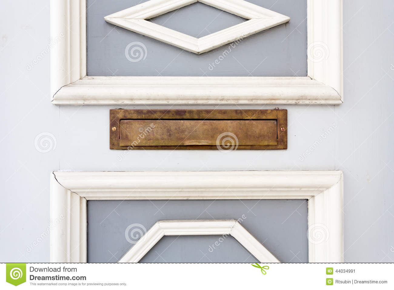 Mail slot in wood door stock image. Image of close, material ...