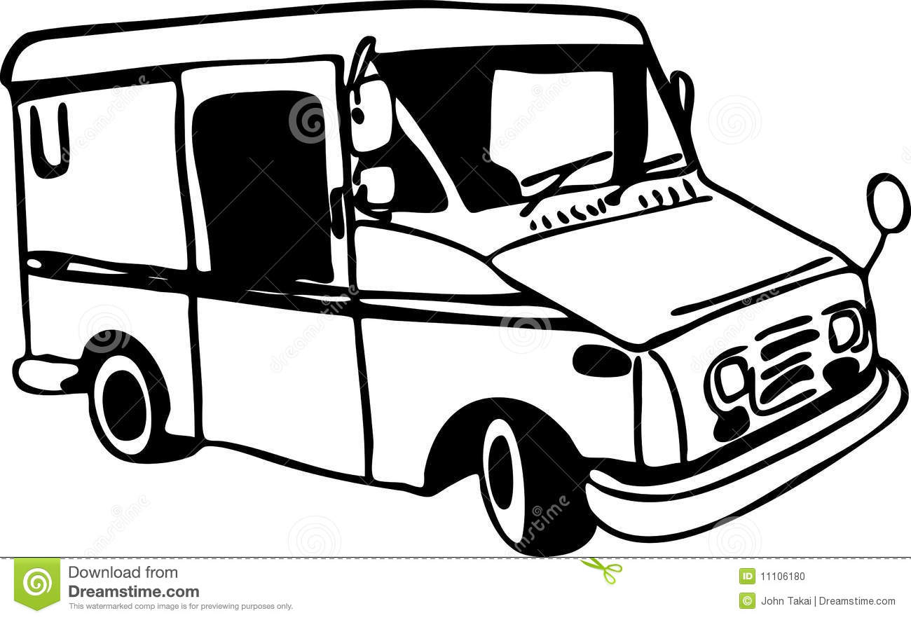 Mail Truck stock vector. Illustration of postal, icon ...Usps Delivery Truck Clipart