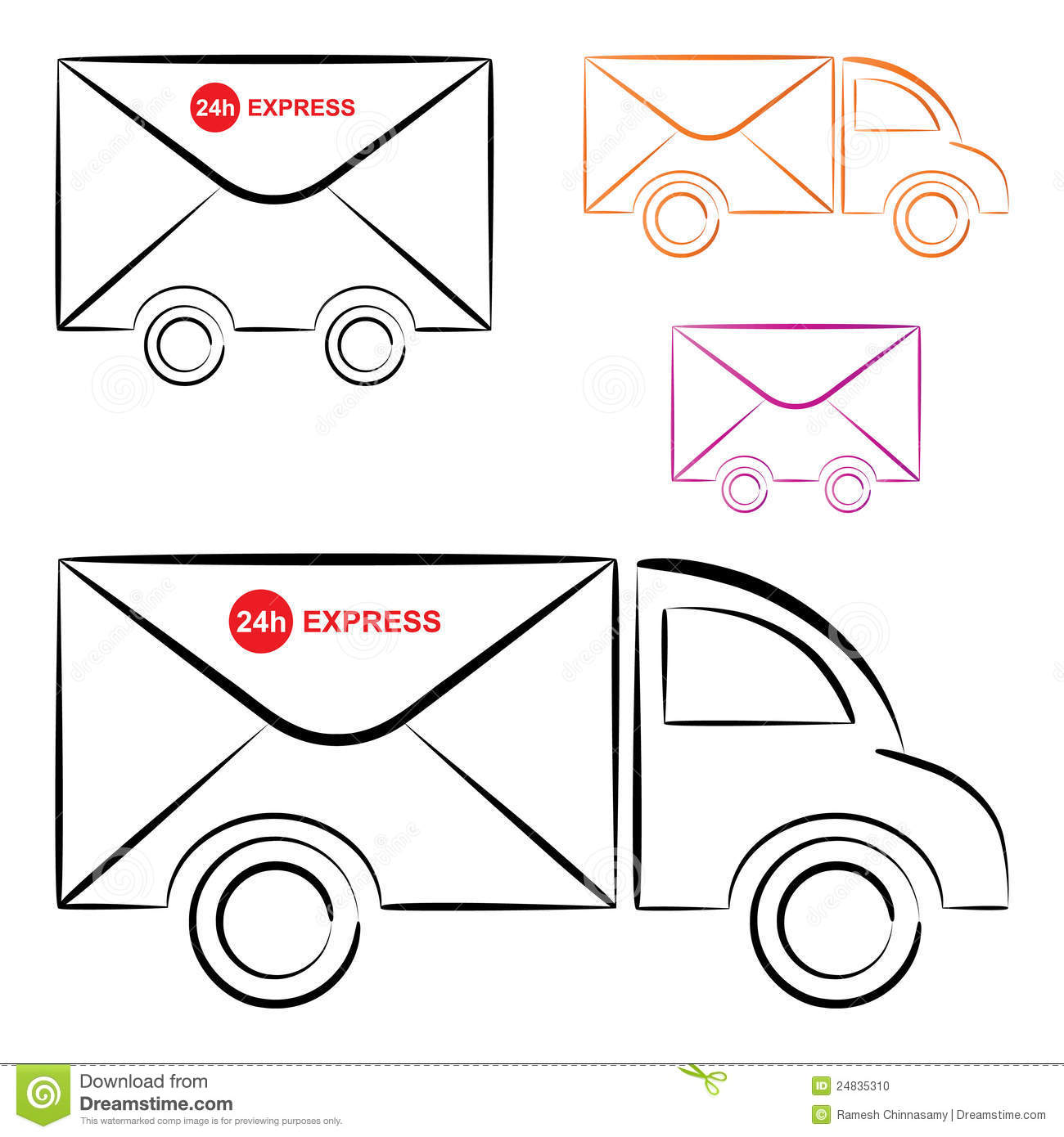 Displaying 18> Images For - Post Office Truck Clip Art...