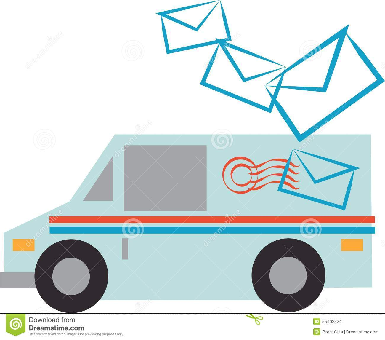 Mail Truck Stock Illustration - Image: 55402324Usps Delivery Truck Clipart